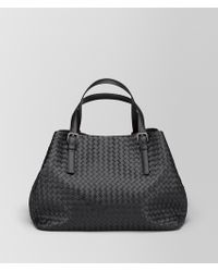 Bottega Veneta - Large Tote Bag In Nero Intrecciato Nappa - Lyst