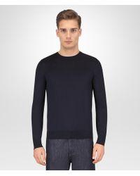 Bottega Veneta - Dark Navy Merino Sweater - Lyst