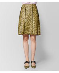 Bottega Veneta - Chamomile Anaconda Skirt - Lyst