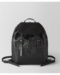 Bottega Veneta - Nero Intrecciato Calf Backpack - Lyst