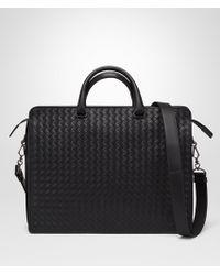 Bottega Veneta - Briefcase In Nero Intrecciato Vn - Lyst
