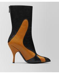 Bottega Veneta - Orange/nero Kid Moodec Flame Ankle Boot - Lyst
