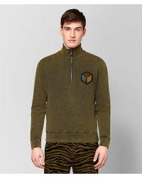 Bottega Veneta - Dark Chamomile Cotton Sweater - Lyst