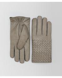 Bottega Veneta - Dark Cement Nappa Glove - Lyst
