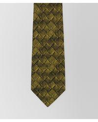 Bottega Veneta - Chartreuse/nero Silk Tie - Lyst