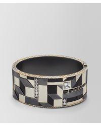 Bottega Veneta - Cubic Zirconia/enamel/silver Bracelet - Lyst