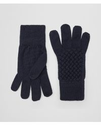 Bottega Veneta - Gloves In Asphalt Blue Wool - Lyst