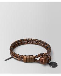 Bottega Veneta - Dark Bronze Intrecciato Nappa Bracelet - Lyst