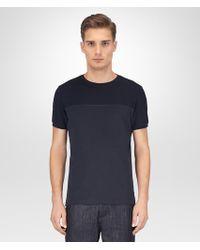 Bottega Veneta - Dark Navy Cotton T-shirt - Lyst