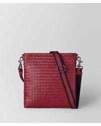 Bottega Veneta - Baccara Rose Intrecciato Nappa Small Messenger Bag - Lyst