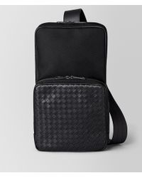Bottega Veneta - Nero Hi-tech Canvas Sling Backpack - Lyst