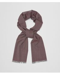 Bottega Veneta - Nero Bordeaux Wool Cashmere Scarf - Lyst