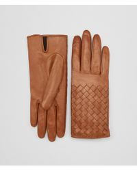 Bottega Veneta - Glove In Dark Leather New Nappa, Intreccio Details - Lyst