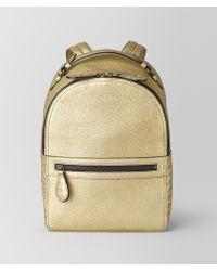 Bottega Veneta - Backpack In Metallic Calf - Lyst