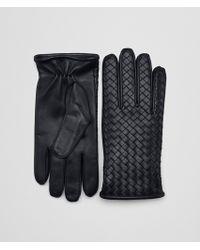 Bottega Veneta - Dark Navy Nappa Glove - Lyst