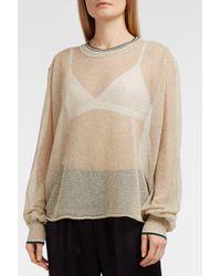 Forte Forte - Metallic Knitted Jumper, Size 1, Women, Beige - Lyst