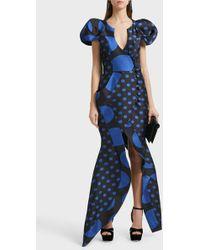 Ronald Van Der Kemp - Sculptural Silk-blend Wrap Gown - Lyst