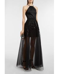 Elie Saab - Sequin-embellished Embroidered Swiss-dot Tulle Skirt - Lyst