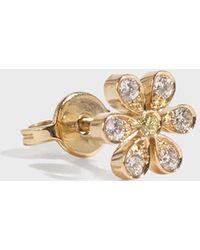 Sophie Bille Brahe - Marguerite Floral Earring, Size Os, Women, Y Gold - Lyst