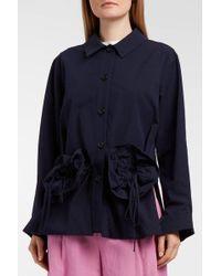 Erika Cavallini Semi Couture - Caroline Cotton And Wool-blend Jacket - Lyst