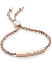 Monica Vinader - Rp Linear Friendship Bracelet - Rose Gold Metallica - Lyst