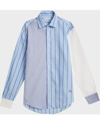 JW Anderson - Panelled Cotton Shirt - Lyst
