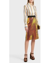 Victoria, Victoria Beckham - Sequin Skirt, Size Uk8, Women, Orange - Lyst
