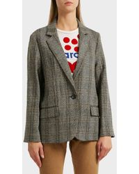 Étoile Isabel Marant - Charly Checked Wool Jacket - Lyst