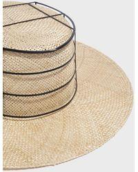 Janessa Leone - Liard Cage Hat, Size M, Women, Beige - Lyst