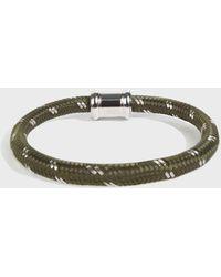 Miansai - Single Rope Casing Bracelet, Size Os, Men, Green - Lyst