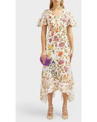 Peter Pilotto - Floral-print V-neck Dress - Lyst