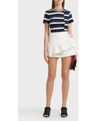 3.1 Phillip Lim - Ruffled Cotton-blend Shorts - Lyst