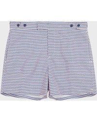 0c1c445d57f05 Frescobol Carioca Tailored Swim Shorts in Black for Men - Lyst