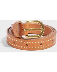 Isabel Marant - Kane Studded Leather Belt - Lyst
