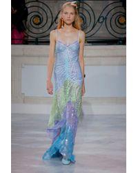 Peter Pilotto - Metallic Lace Gown, Size Uk10, Women - Lyst