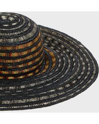 Missoni - Woven Wide Brim Sun Hat, Size S, Women, Black - Lyst