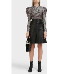 Isabel Marant - Gladys Leather Skirt - Lyst