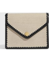 Paul & Joe - Octave Flap Canvas And Leather Bag, Size Os, Women, Beige - Lyst
