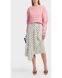 Tibi - Lucci Striped Skirt - Lyst