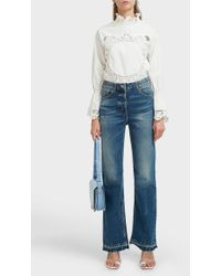 Paul & Joe - Frayed-hem Straight-leg Jeans - Lyst