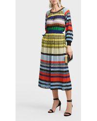 Missoni - Striped Crochet-knit Skirt - Lyst