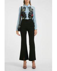 Elie Saab - Bordure Silk Tunic Shirt - Lyst