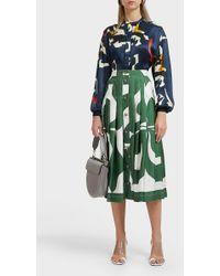 Victoria Beckham - Front Pleat Skirt - Lyst