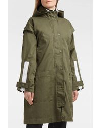 Proenza Schouler - Pswl Cotton-drill Hooded Coat, Size Xs, Women, Green - Lyst