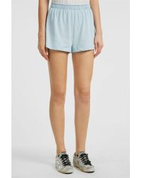 Wildfox - Embroidered Cotton Shorts, Size Xs, Women, Blue - Lyst