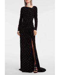 879baa497cab Lyst - Emilio Pucci Embroidered Silk Maxi Dress - Black in Black