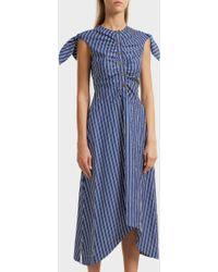 10 Crosby Derek Lam - Bow Detailed Cotton Dress - Lyst