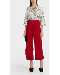 Andrew Gn - Floral-print Silk Blouse - Lyst