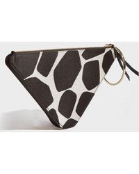 Sara Battaglia - Leather Triangle Bracelet Bag - Lyst