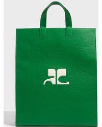 Courreges - Matt Vinyl Mini Bag, Size Os, Women, Green - Lyst